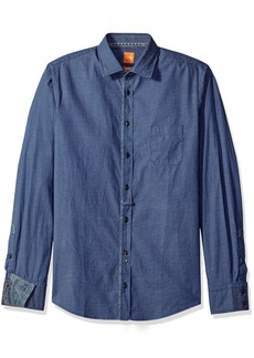 Hugo Boss Boss Orange Men's Eslime Mini Print Oxford Button Down Shirt