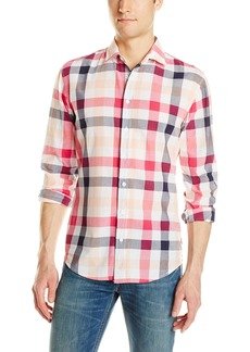 Hugo Boss BOSS Orange Men's Extreme Light Crepe Check Long Sleeve Shirt  XXX-Large