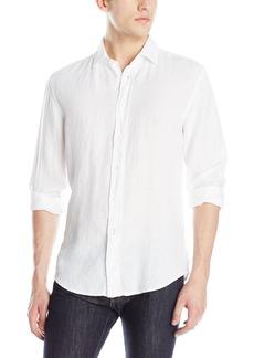 Hugo Boss BOSS Orange Men's Extreme Linen Garment Dyed Long-Sleeve Shirt