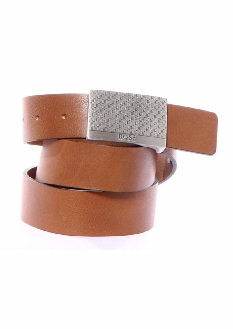 Hugo Boss BOSS Orange Men's Joel Leather Plaque Buckle Belt