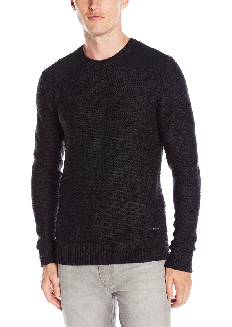 Hugo Boss Boss Orange Men's Kroy Merino and Boiled Wool Sweater With Shoulder Patches