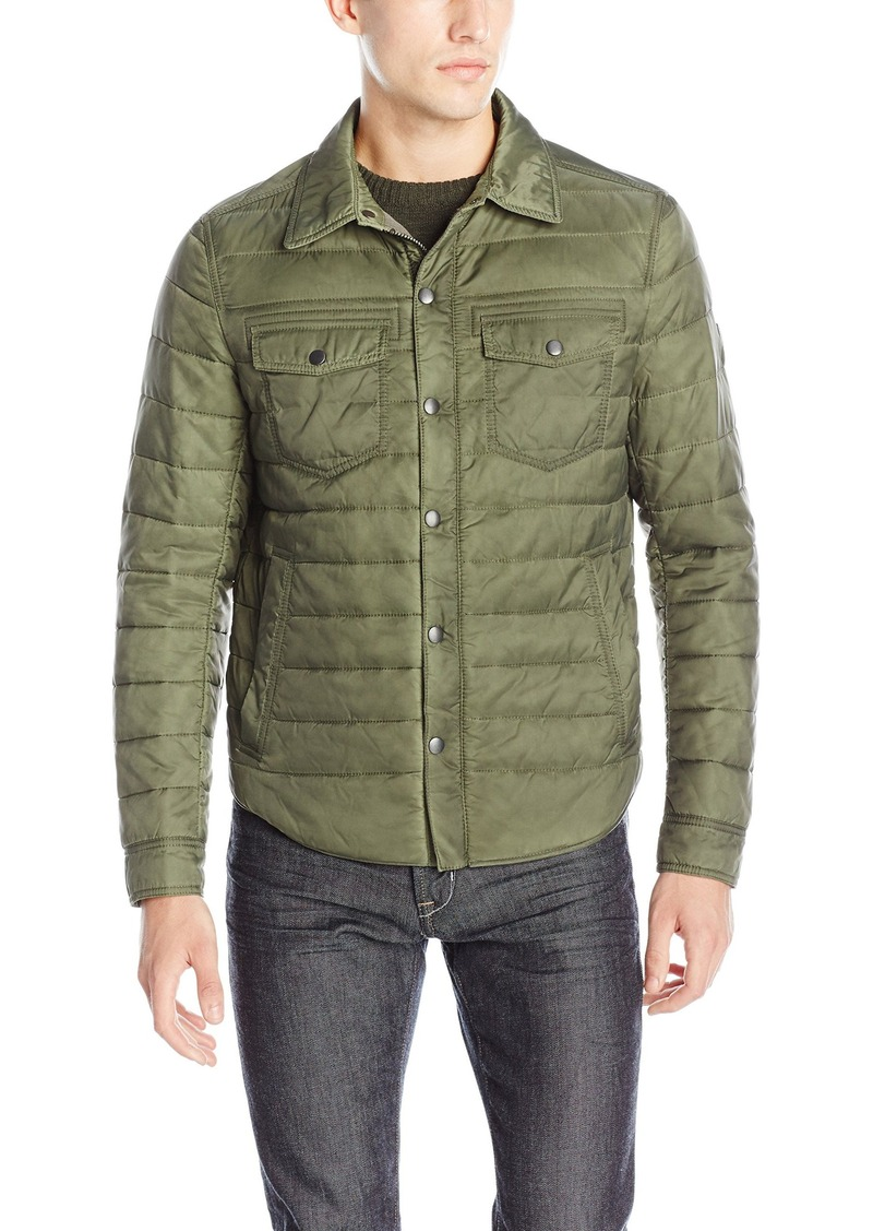 Hugo Boss BOSS Orange Men's Owilder-D Quilted Shirt Jacket R ... : quilted shirt mens - Adamdwight.com