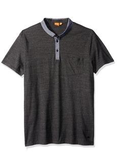 Hugo Boss BOSS Orange Men's Patcherman Jersey Denim Mix Polo Shirt