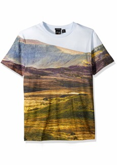 Hugo Boss BOSS Orange Men's Teedog 4 Tee with Allover Landscape Print