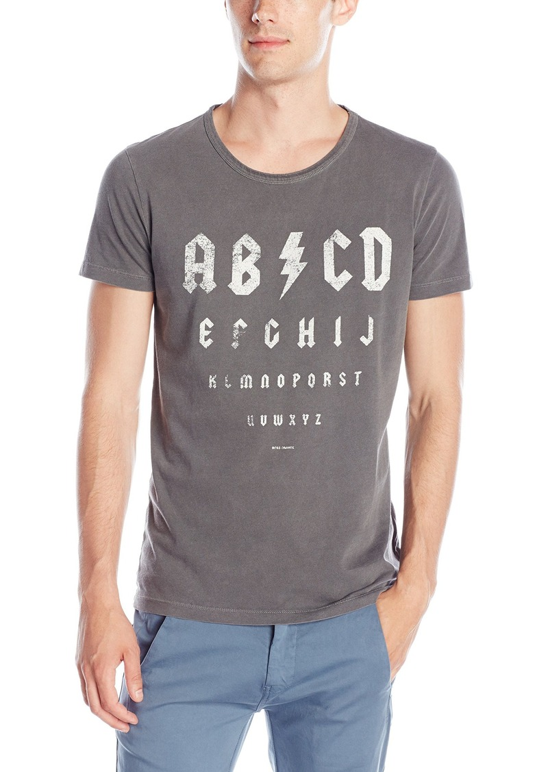 Hugo boss boss orange men 39 s traprock abcd graphic short for Boss t shirt sale