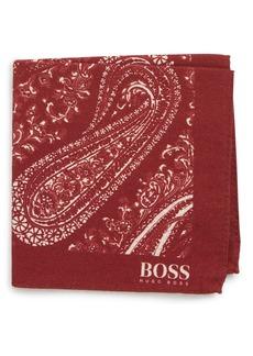 Hugo Boss BOSS Paisley Cotton & Wool Pocket Square