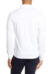 Hugo Boss BOSS Paver Cotton Long Sleeve Polo Shirt