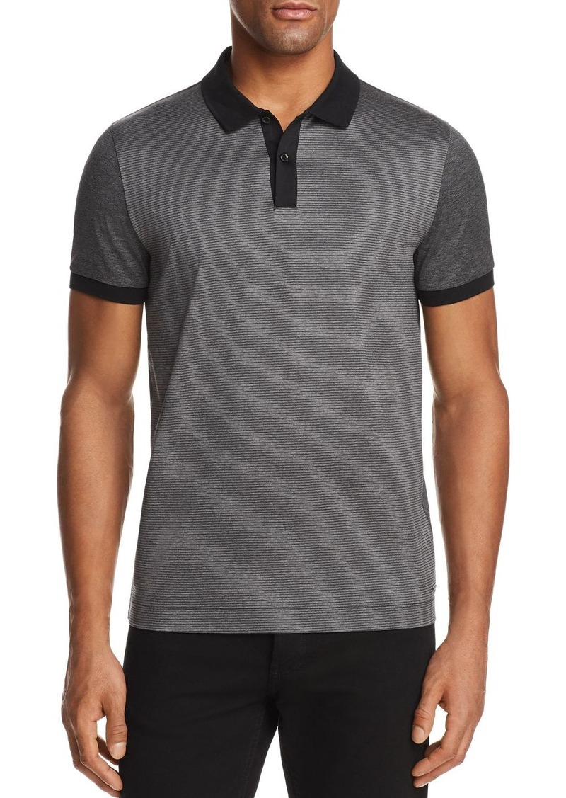 de6f402d418e Hugo Boss BOSS Phillipson Mercerized Stripe Short Sleeve Polo Shirt ...