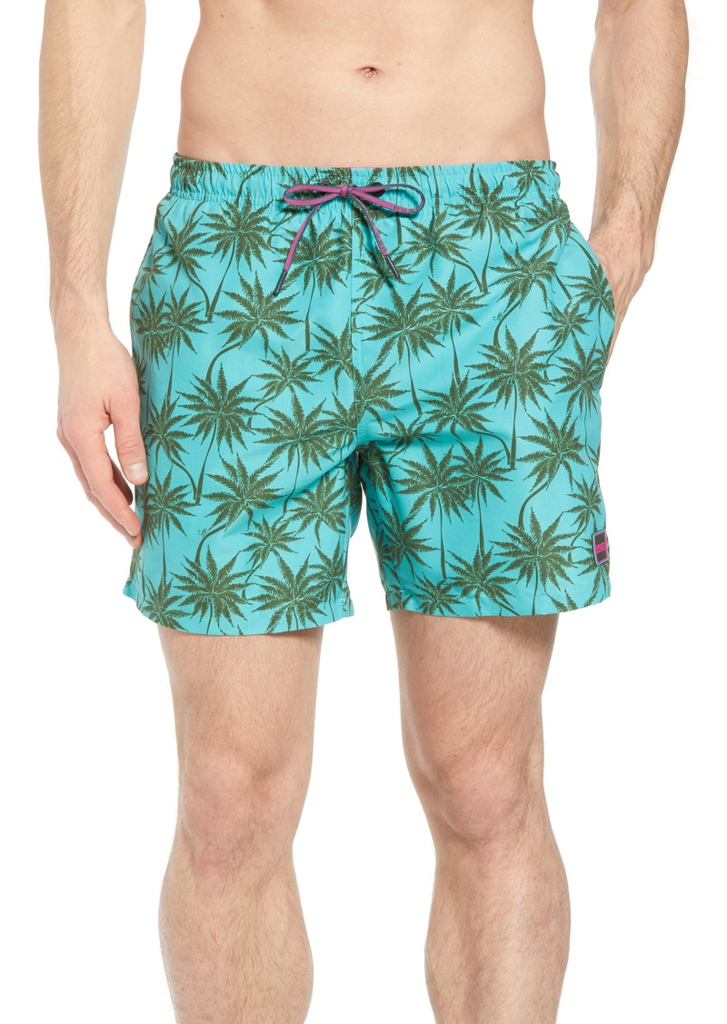 f1e32d59d Hugo Boss BOSS Piranha Palm Tree Swim Trunks | Swimwear