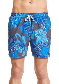Hugo Boss BOSS 'Piranha' Print Swim Trunks