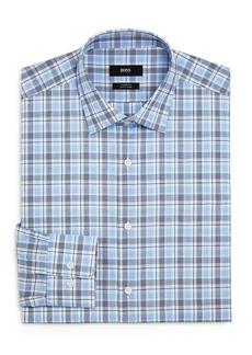 Hugo Boss BOSS Plaid Regular-Fit Dress Shirt