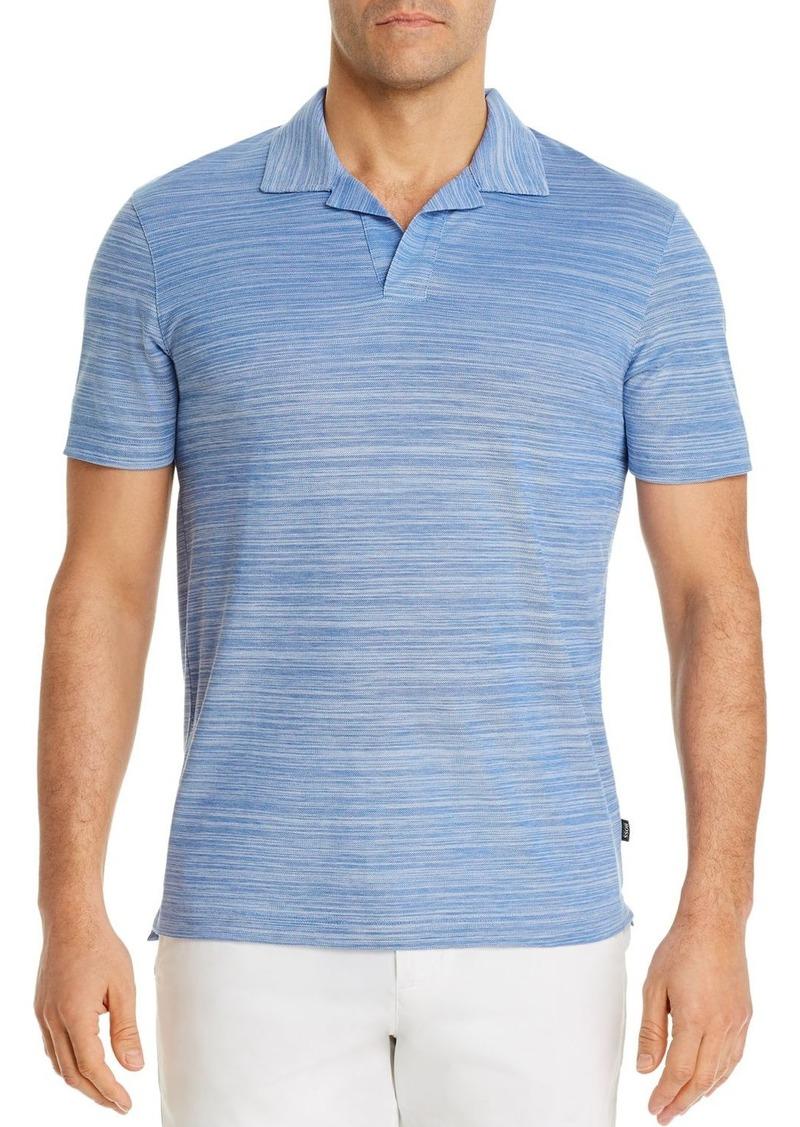 Hugo Boss BOSS Pye Cotton Two-Tone Optic Stripe Regular Fit Polo Shirt