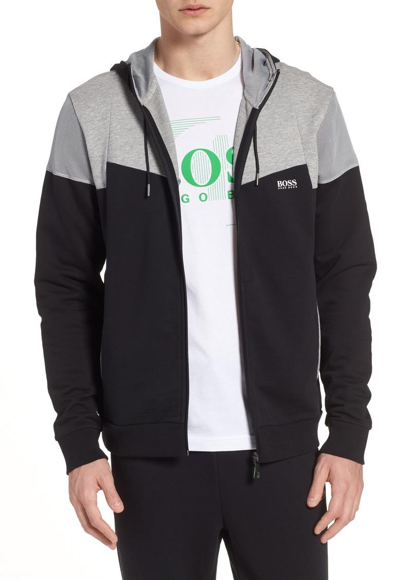 0fa188665 Hugo Boss BOSS Regular Fit Hooded Fleece Jacket | Outerwear