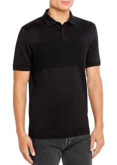Hugo Boss BOSS Ribbed-Inset Slim Fit Polo Shirt
