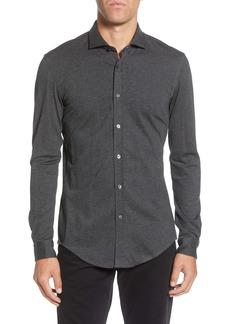 Hugo Boss BOSS Ridley Slim Fit Cotton & Wool Blend Sport Shirt