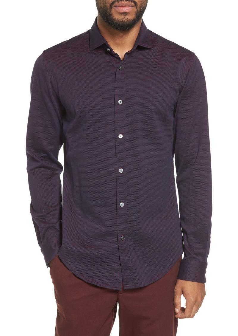 8c897bda7 Hugo Boss BOSS Ridley Slim Fit Jersey Sport Shirt   Casual Shirts