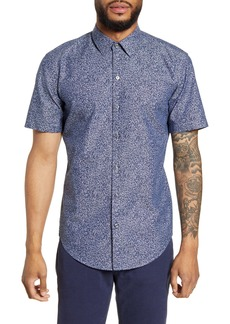 Hugo Boss BOSS Robb Sharp Fit Floral Short Sleeve Button-Up Shirt