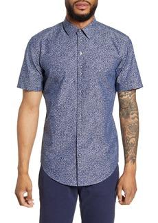 Hugo Boss BOSS Robb Sharp Fit Floral Short Sleeve Button-Up Shirt