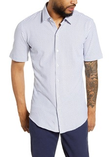 Hugo Boss BOSS Robb Slim Fit Microdot Short Sleeve Button-Up Shirt