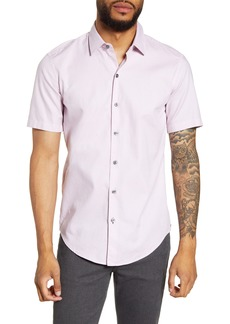 Hugo Boss BOSS Robb Sharp Fit Short Sleeve Dobby Button-Up Shirt