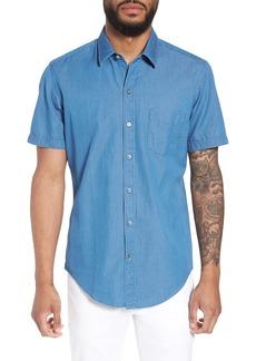 Hugo Boss BOSS Robb Trim Fit Denim Short Sleeve Sport Shirt