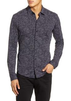 Hugo Boss BOSS Robbie Regular Fit Abstract Print Button-Up Shirt