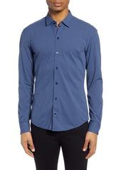 Hugo Boss BOSS Robbie Regular Fit Dot Print Button-Up Performance Shirt