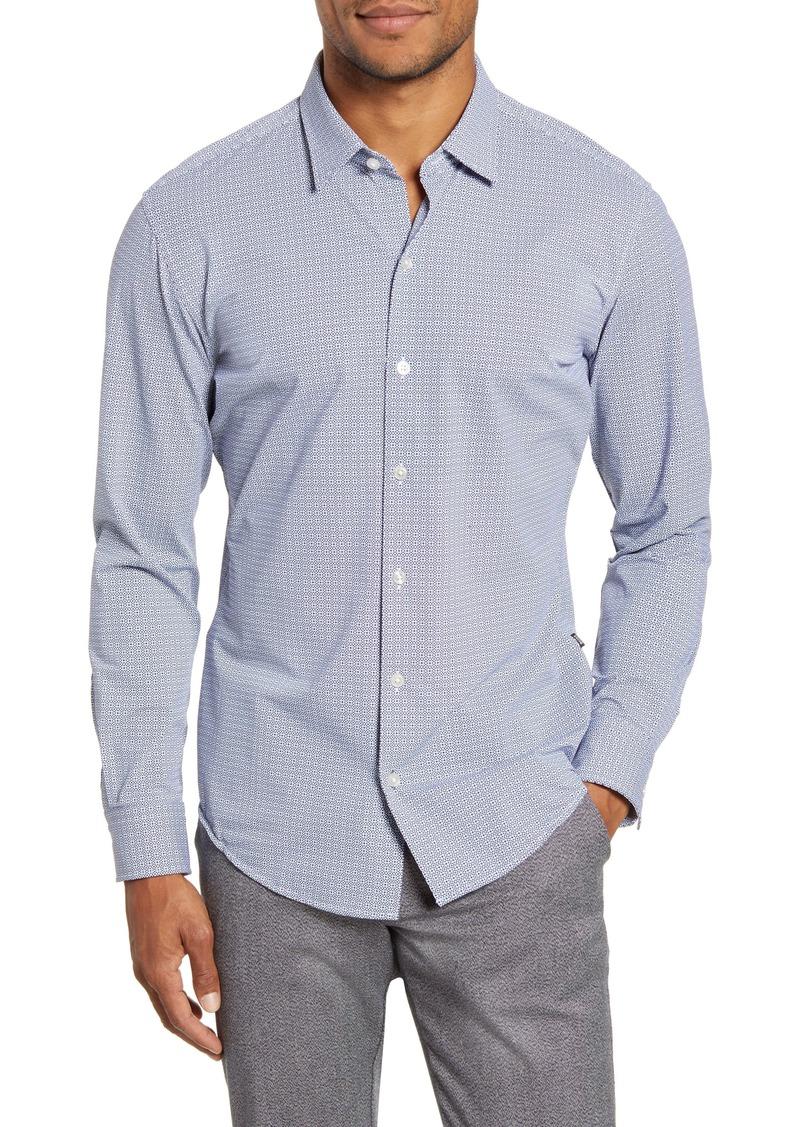 Hugo Boss BOSS Robbie Sharp Fit Button-Up Stretch Nylon Shirt