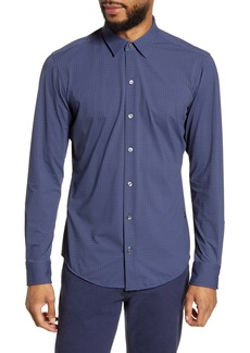 Hugo Boss BOSS Robbie Slim Fit Dot Stretch Button-Up Shirt