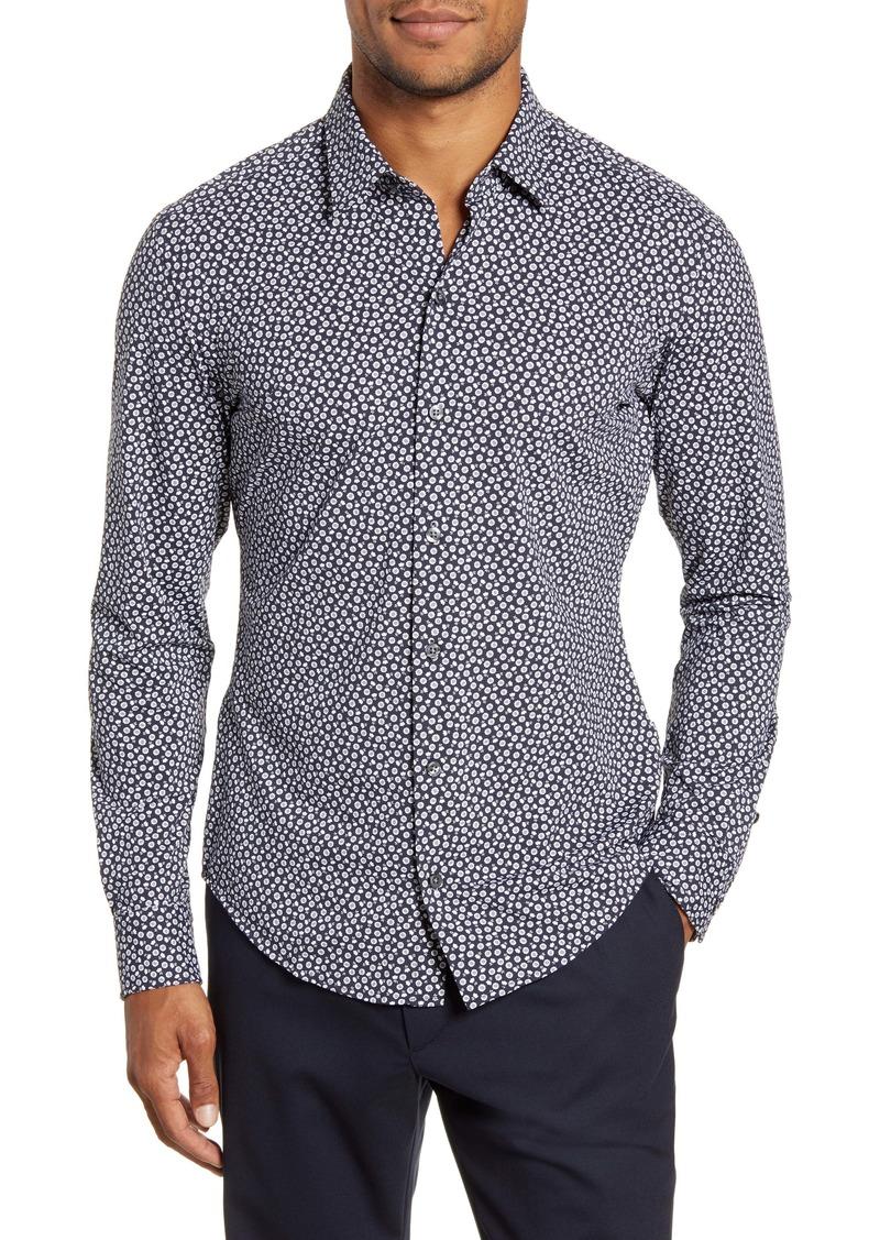 Hugo Boss BOSS Robbie Sharp Fit Floral Button-Up Stretch Nylon Shirt