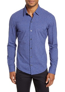 Hugo Boss BOSS Robbie Sharp Fit Floral Stretch Button-Up Shirt