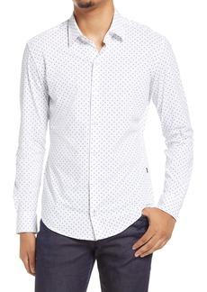 Hugo Boss BOSS Robbie Slim Fit Knit Button-Up Shirt