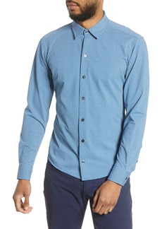 Hugo Boss BOSS Robbie Slim Fit Micro Print Stretch Button-Up Shirt