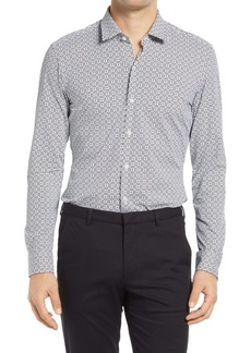 Hugo Boss BOSS Robbie Slim Fit Print Button-Up Performance Shirt