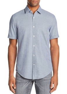 Hugo Boss BOSS Ronn Short-Sleeve Micro-Grid-Print Slim Fit Shirt