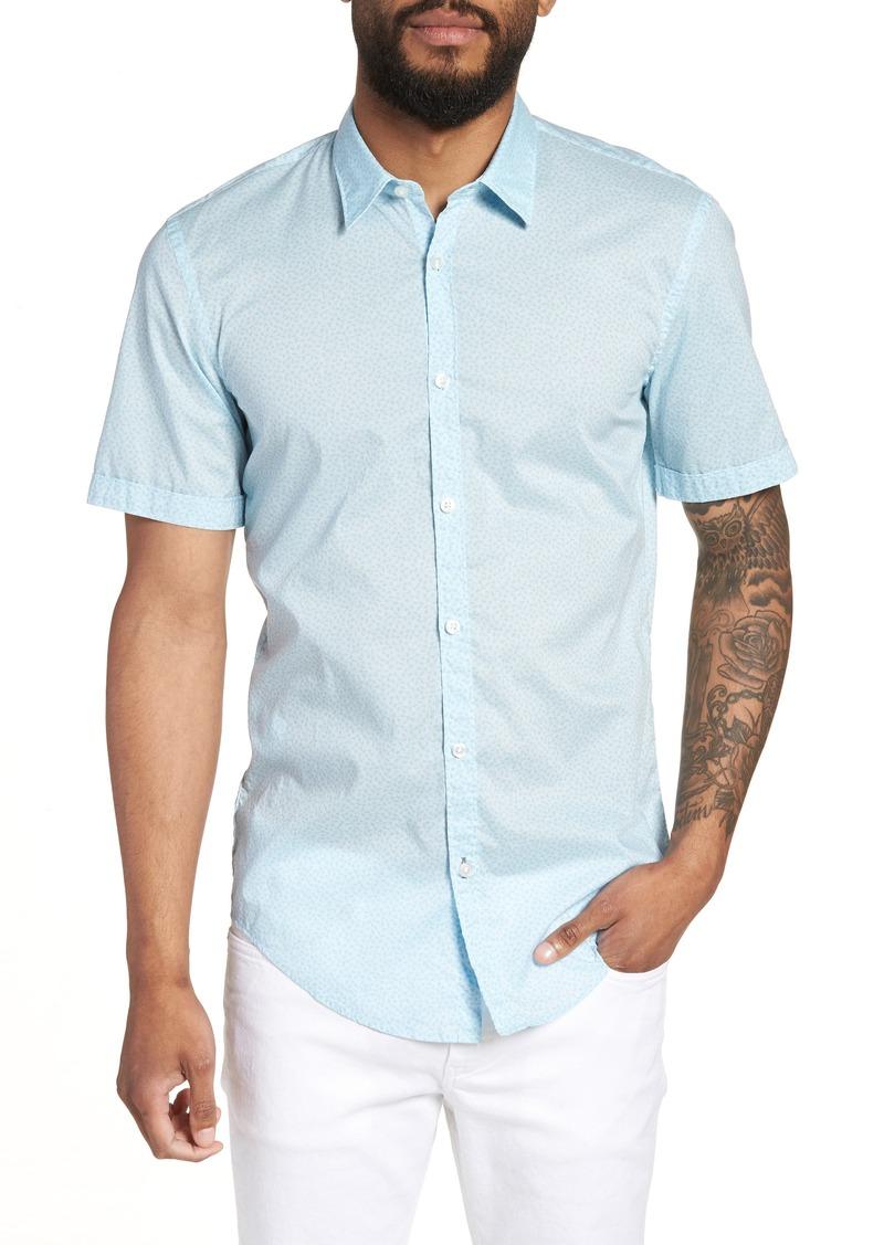 54e2b021 Hugo Boss BOSS Ronn Slim Fit Flower Print Sport Shirt | Casual Shirts