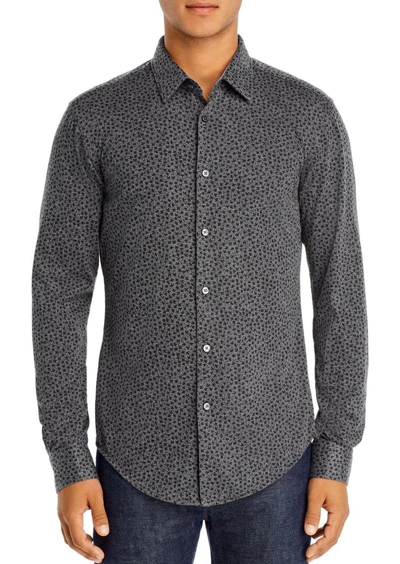 Hugo Boss BOSS Ronni Leaf Print Slim Fit Shirt