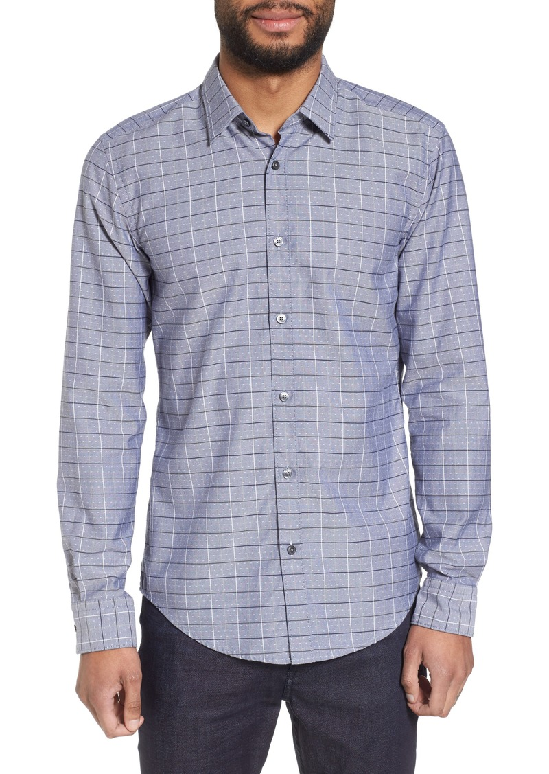 253176274 Hugo Boss BOSS Ronni Slim Fit Check Sport Shirt | Casual Shirts