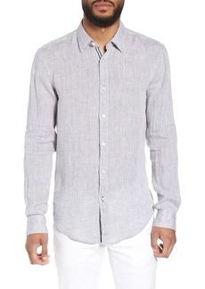 Hugo Boss BOSS Ronni Slim Fit Dobby Linen Sport Shirt