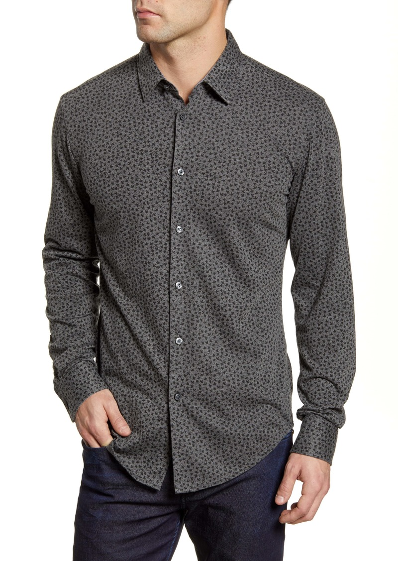 Hugo Boss BOSS Ronni Slim Fit Leaf Print Button-Up Shirt