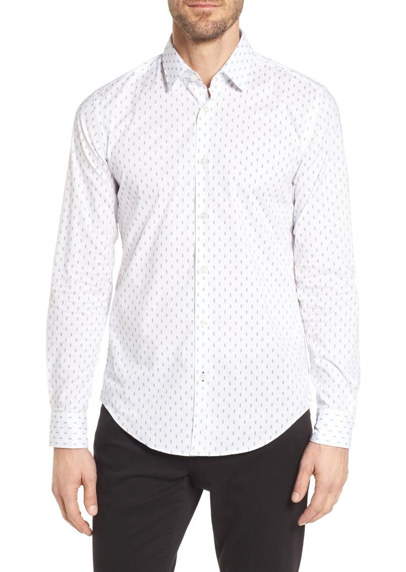 ec7f227ed Hugo Boss BOSS Ronni Slim Fit Print Sport Shirt | Casual Shirts