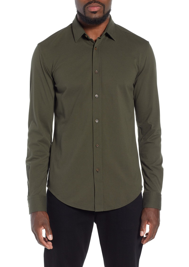 0483139a9 Hugo Boss BOSS Ronni Slim Fit Solid Sport Shirt | Casual Shirts