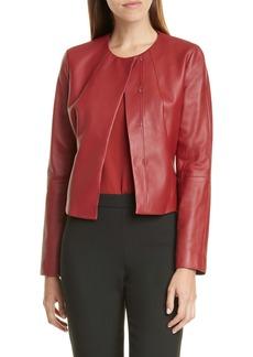Hugo Boss BOSS Sabarbie Crop Leather Jacket