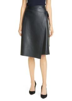 Hugo Boss BOSS Sebonda Leather Faux Wrap Skirt