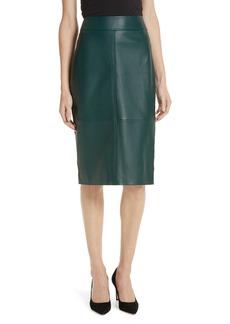 Hugo Boss BOSS Selrita Lambskin Leather Pencil Skirt
