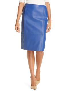 Hugo Boss BOSS Sepassa Leather Pencil Skirt