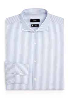 Hugo Boss BOSS Sharp Cotton Triple Striped Regular Fit Dress Shirt