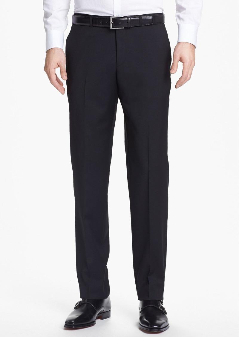 Hugo Boss BOSS 'Sharp' Flat Front Wool Trousers