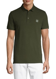 Hugo Boss BOSS Short-Sleeve Stretch-Cotton Polo