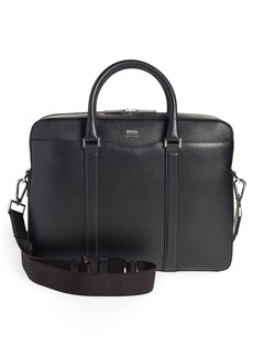 Hugo Boss BOSS Signature Leather Briefcase